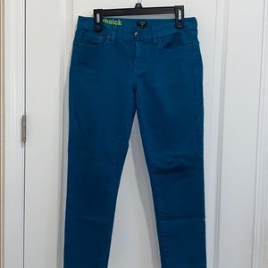 JCREW toothpick jeans size 28 teal